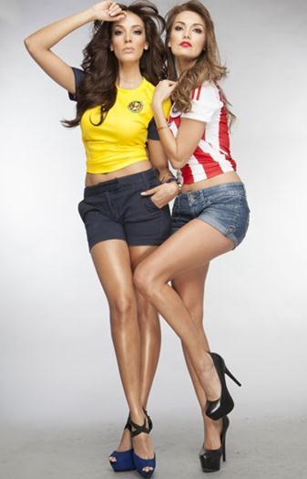 Erika+Honstein+y+Carolina+Morán+Clasico+Chivas+vs+America+voyeurmix.net