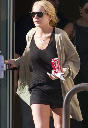 Lindsay+Lohan+Sabrosa+Trasparentando+Pezones+