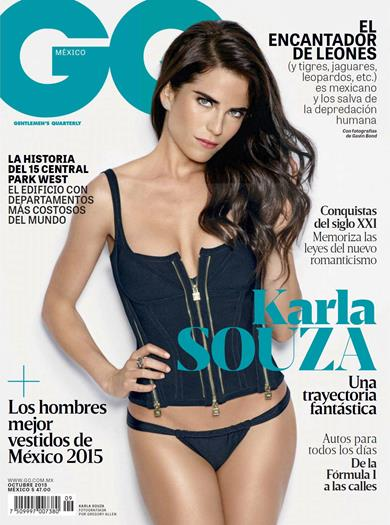 Karla+Souza+Sabrosa+En+Revista+GQ+Mexcio+Octubre+2015