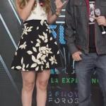 Natalia Tellez Buenas Piernas En Conferencia de Premios Telehit´2015
