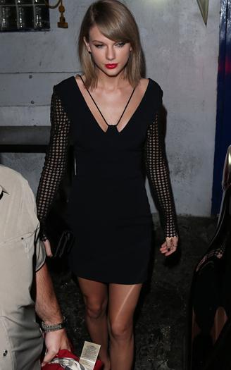 Taylor+Swift+Guapa+Minivestido+Negro