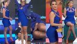 Andrea Escalona Culote En Sexy Vestido Azul! HD