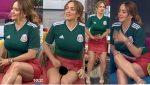 Andrea Legarreta Minifalda Roja Nuevo Upskirt! HD