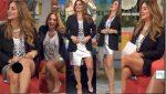 Andrea Legarreta Minifalda Plateada Nuevo Upskirt!! HD