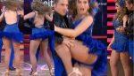 Aura Cristina Geithner Microvestido Azul Piernotas! HD
