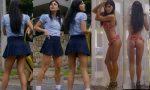 Carolina Gaitán Sexy Colegiala y Culito En Bikini! HD