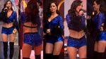 Cynthia Rodríguez Microshorts Azul Piernitas HD