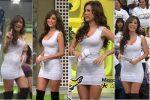 Cynthia Rodríguez Sexy Microvestido Blanco HD