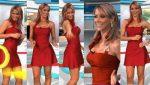 Ines Sainz Sexy En Vestido Rojo Cuerpo Tecnico! HD
