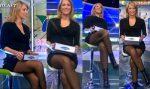 Ines Sainz Rica En Microfalda y Medias Negras! HD