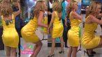 Ingrid Coronado Empinando Culo En Sexy Vestido Amarillo! HD