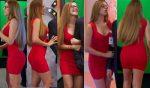 Luz Elena Gonzalez Vestido Rojo Entallado! HD