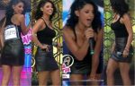 María Fernanda Quiroz Rica En Minifalda Negra Culote!! HD