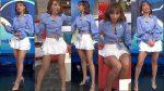 Natalia Téllez Microfalda Blanca Piernotas! HD