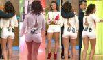 Tabata Jalil Culote En Microshorts Blancos + Piernotas HD
