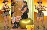 Tabata Jalil Rebotando Nalgotas En Pelota + Shorts Piernotas!! HD