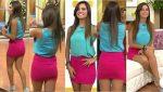 Tania Rincón En Microfalda Rosa + Upskirt! HD