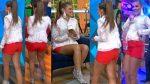 Vanessa Claudio Microshorts Rojos Piernotas! HD