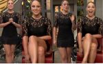 Vanessa Huppenkothen Ricas Piernotas Minivestido Negro HD