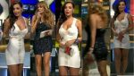 Vero Pliego En Microvestido Blanco + Aline Hernandez Sexy HD