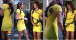 Ximena Navarrete Sexy Vestido Entallado Trasparentando Lenceria! HD