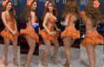 Yanet García Chichona En Sexy Vestido De Carnaval HD