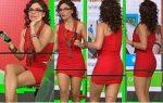 Tabata Jalil Vestido Rojo Culote De Perfil! HD