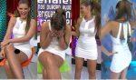 Vanessa Claudio Hot En Minivestido Blanco Upskirt! HD